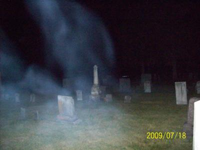 Ghost Mist at Dartford Cemetery, Green Lake, Wisconsin