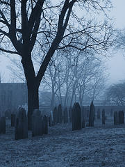 Ghost in Graveyard
