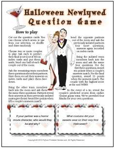 Halloween Newlywed Game Questions for teens-adults